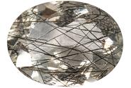Quartz - tourmaline noire - 13.41ct