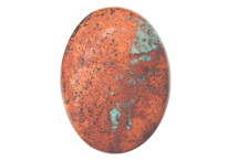 Chrysocolle Cuprite cabochon