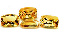 Citrine coussin 8x6mm