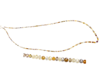 Collier de diamants multicolores