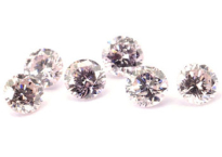 Diamant rose 2,5mm