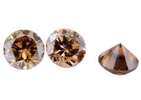 Diamant brun Cognac 3.9mm