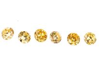 Diamant jaune-orange 1.2mm