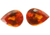 Grenat mandarin calibré 0.96ct