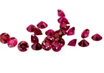 rubis rond, taille brillant, diamond cut, qualité supérieure