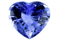 buy blue Ceylon sapphire heart shape 4.55ct
