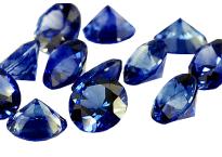 Saphir bleu rond (calibré) 1.3mm