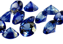 Saphir bleu rond 1.40mm