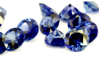 Saphir bleu rond (calibré) 0.19ct