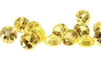 Saphir jaune (rond calibré) 0.01ct