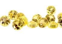Saphir jaune (rond calibré) 0.1ct