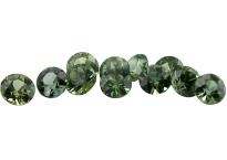Saphir vert (rond - calibré) 0.06ct