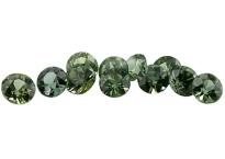Saphir vert (rond - calibré) 0.09ct