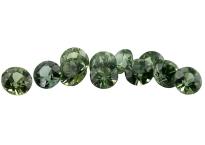 Saphir vert (rond - calibré) 0.16ct