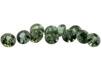 Saphir vert (rond - calibré) 0.17ct