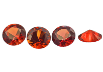 Saphir orange-rouge (rond calibré) 0.68ct