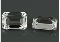 Topaze blanche oct 12x8.6mm