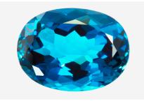 Topaze bleue London Blue 23.61ct (traitée)