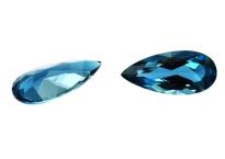 Topaze bleue London Blue calibrée 20.3ct (traitée)