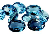 Topaze bleue London Blue calibrée 1.48ct (traitée)