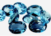 Topaze bleue London Blue calibrée 3.1ct (traitée)