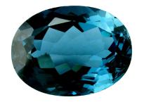 Topaze bleue London Blue calibrée 16.4ct (traitée)