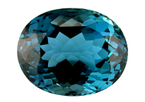 Topaze bleue London Blue 31.8ct (traitée)
