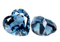 Topaze bleue London Blue calibrée 1.57ct (traitée)