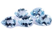 Topaze bleue Sky Blue 7x5mm