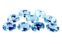 Topaze bleue Sky Blue calibrée 0.9ct (traitée)