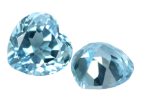 Topaze bleue Sky Blue calibrée 6ct (traitée)