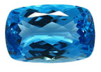 Topaze bleue Swiss Blue (traité) 28.35ct