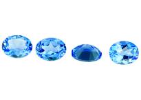Topaze bleue Swiss Blue calibrée 3.33ct (traitée)
