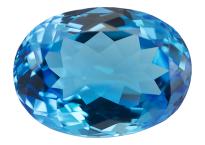 Topaze bleue Swiss Blue (traité) 18.4ct