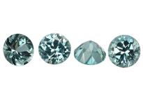 Tourmaline bleue-verte ronde calibrée 0.06ct