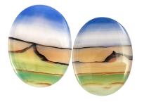 Paire d'agates paysages 24.60ct