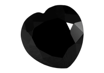 Spinelle noir calibré forme cœur 8mm