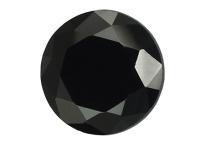 Spinelle noir 22 mm, Rond, Facetté, taille brillant