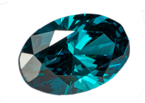 Diamant bleu traité oval 0.47ct