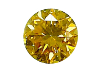 "Diamant jaune ""natural fancy intese yellow"" 0.33ct"