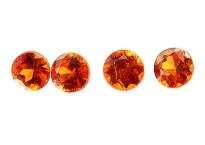 Grenat mandarin calibré 0.14ct