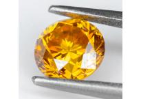 Diamant jaune orange naturel 0.27ct