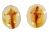 pair cross agate