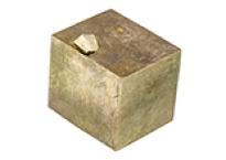 Cristal cubique de pyrite