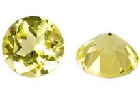 quartz jaune rond