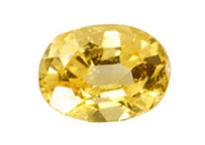 saphir jaune  Yellow sapphire 0.43ct
