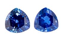 Saphir bleu paire 1,05ct