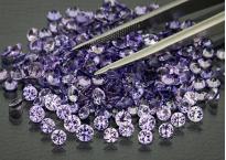Saphir violet lavande rond 3,2mm