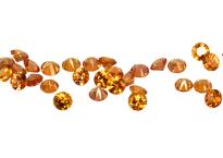 #saphir #sapphire #orange #rond #round 2mm