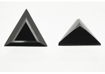Spinelle noir triangle 12mm